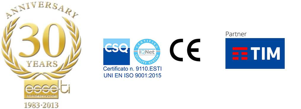 logo Esse-Ti, partnership con Tim, certificazioni