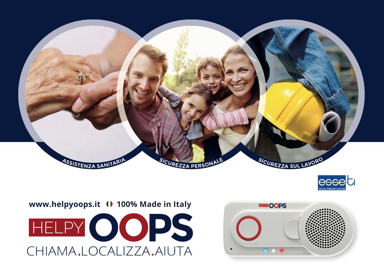 Dispositivo di telesoccorso Helpy Oops Shop online vendita